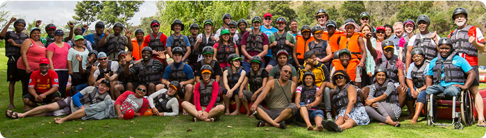 unitemp survivors 2014 at the Breede River, Western Cape