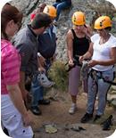 Safety brief for the 1st adventure: Abseiling