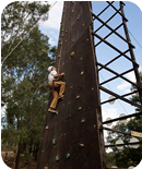 Climbing wall: Testing strength & focus
