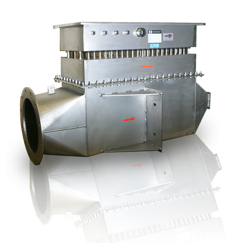 Industrial air pipes : Thermon air heater pipe mounting custom unitemp africa