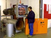 Diathermic oil heater