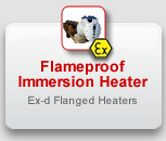 Flanged Immersion Heaters, Ex-d, flameproof