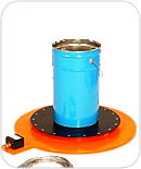 Base heater suitable for smaller containers