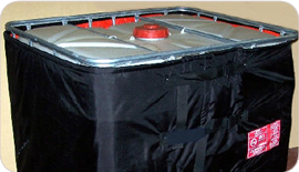 Flexible heating jackets for bulk storage containers of liquids