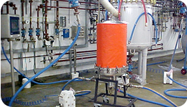 Chemically resistant heating jacket on process vessel