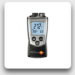 testo 810: IR Thermometer with Ambient Air Temperature Sensor (PocketLine)