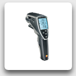testo 845: Infrared Thermometer, switchable optics