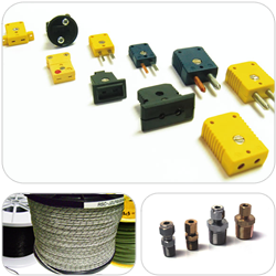 Temperature Sensor Accessories: Connectors, Cables, compression fittings
