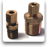 "Compression Fittings: Brass, 1/4 - 1/2""NPT"