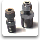 "Compression Fittings: Stainless Steel, 1/4 - 1/2""NPT"
