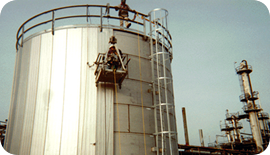 Tank Insulation: Vertical standing seam panel