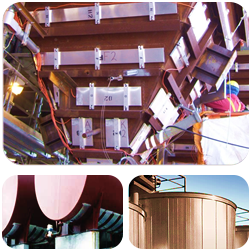 Fly ash hoppers heaters, tank heaters, tank insulation systems