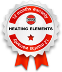 12 months warranty: unitemp heating elements
