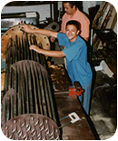Flanged heater production, 1990