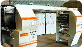 Web offset labels printer using Gefran automation & motion control